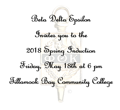 PTK Induction Invite Poster
